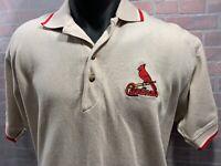 Vintage St Louis CARDINALS Baseball MLB Dynasty Polo Men's Shirt Size L