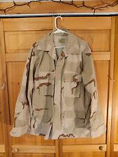 US Army DCU 3 Color Desert Camo Uniform BDU Jacket, Size Large Long