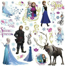 Disney FROZEN wall stickers 36 decals decor Elsa Anna Olaf Arendelle icy winter