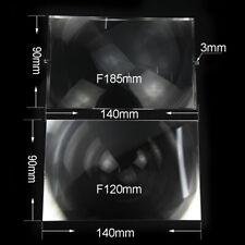 Plastic Fresnel Solar Lens Focal Length185mm 120mm for Diy Projector 2pc