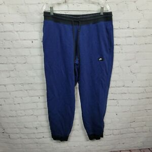 Nike AW77 French Terry Shoebox Cuffed Jogger Pants Game Royal/Black Mens Size XL