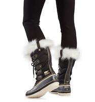 Sorel Womens Joan Of Arctic X Celebration Boot Black Winter Snow Fur Trim