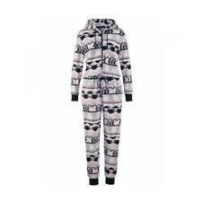 Eghunooye Weihnachten Jumpsuit Damen Teddy Fleece Einteiler Overall mit Rei/ßverschluss und Kapuze Winter Nachtw/äsche Hausanzug Pyjamas Outfits