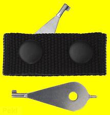 Handschellen Schlüssel Handschellenschlüssel m. Koppel Gürtelabstandshalter 3044