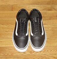 Vans Old Skool LX Size Mens 9.5, Womens 11, Black & White Leather