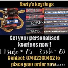 Personalised leather keyring  cutom,name,no plate,dad,mum,bbf,i♡u good quality