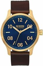 Nixon Women's Patrol A12433210-00 42mm Navy Dial Leather Watch
