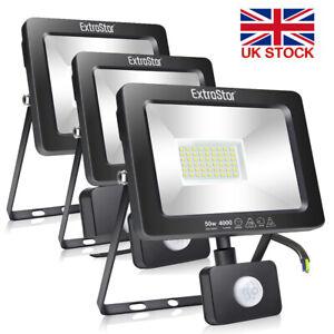 Outdoor LED Floodlight PIR Motion Sensor Garden Flood Security Lights Waterproof