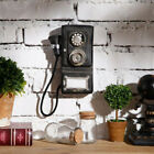 Antique Rotary Wall-mounted  Pay Phone Model Vintage Booth Telephone Figurine