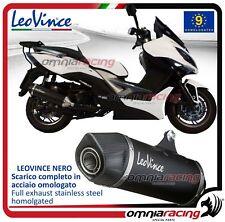 Leovince Nero Pot D'Echappement complet acier Kymco Xciting 400 i 2012>2016