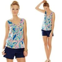 Lilly Pulitzer Gigi Double V Palm Reader Tank Top Size XS