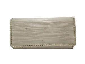 Authentic LOUIS VUITTON Epi Key Case Holder M6382J White