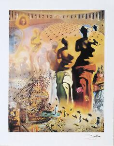 Salvador Dali Hallucinogenic Toreador Litho Print Facsimile Signed Numbered COA