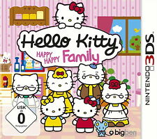 HELLO Kitty: Happy Happy Family (Nintendo 3ds, 2014, keep case)