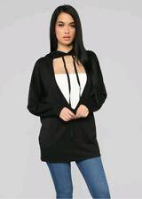Fashion Nova Hoodie  Black small Long Sleeves