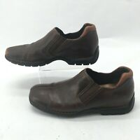 Cole Haan Zeno Split Toe Driving Loafer Mens 9.5M Brown Leather Slip On Shoes