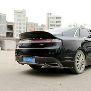 ABS Gloss Black Color Rear Trunk Boot Wing Spoiler For Lincoln MKZ 2014- 2019
