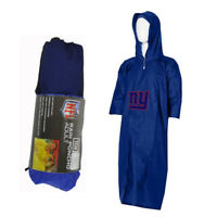 New NFL New York Giants Reusable Adult Rain Poncho Hooded & Storage Pouch