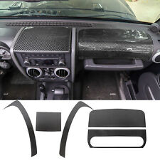 For Jeep Wrangler JK 07-10 Center Console Interior Trim Dashboard Cover 5Pieces