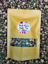 Pink Rose Buds Dried Whole (Rose Bud) Premium Loose Herbal Tea