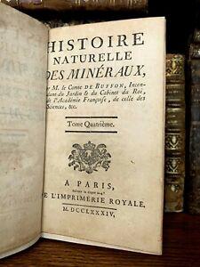 1784 BUFFON NATURAL HISTORY OF MINERALS - Iron and Gold
