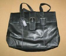 NEW BELLINO Womens Black Leather Shoulder Bag