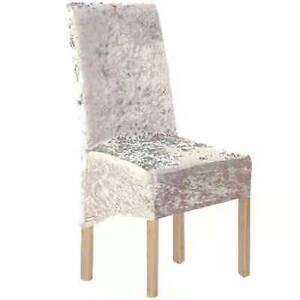 Crushed Velvet Dining Chair Covers Stretchable Christmas Slipcover Decor