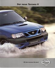 Prospekt / Brochure Nissan Terrano II 09/1999