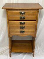 Fine Victorian Antique Sheet Music Storage Library Chest Drawers Satin Walnut
