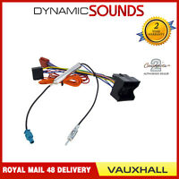 Car Stereo Aerial & ISO Wiring Harness Adapter for Vauxhall Corsa D 2006 On