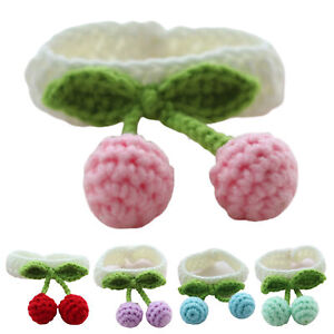 Cherry Patched Hand-woven Collar  Dog Scarf Neck Accessories Pet Supplies Eff
