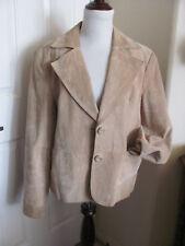 Mossimo Beige Tan Camel Suede Leather Short Jacket Blazer Coat  Size XL