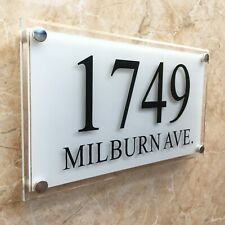 Large MODERN Crystal effect House Signs Plaques Door Numbers Name Plate elegant!