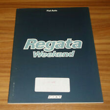 Catalogue interne FIAT REGATA Weekend de 1985