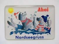 Gruß von der Nordsee Meer Strand Foto Magnet Souvenir Germany Neu