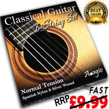 Adagio Classical Guitar Strings Spanish Nylon Normal Gauge Set RRP £9.99 ✯✯✯✯✯