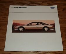 1990 Ford Thunderbird Deluxe Sales Brochure 90 Super Coupe LX