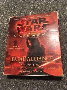 Star Wars Old Republic Fatal Alliance Unabridged Audio Book CD