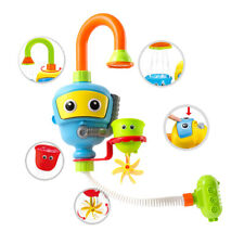 Baby Bath Toy- Spin N Sort Spout Pro- 3 Stackable Cups, Automated Spout