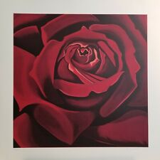 HOLIDAY I SALE!  LOWELL BLAIR NESBITT Limited Edition Silkscreen Red Rose Signed