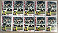 1984 - Topps #100 - Reggie Jackson Angels - HOF - 10ct Card Lot