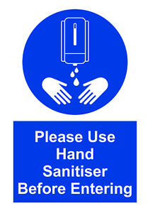 A6 Please San Your Hands Before Entering - Hygiene, Safety