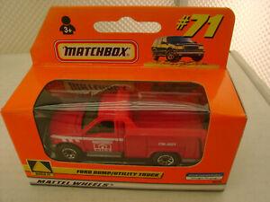 1999 MATCHBOX SUPERFAST #71 FORD DUMP/UTILITY TRUCK NEW IN BOX