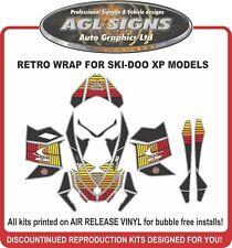 Retro Sled Wrap for Ski-doo XP  2008 - 2012  mxz renagade summit Decals Graphics