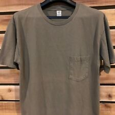 VTG USA Made 90s Gap Chest Pocket Distressed Green Solid T Shirt Boxy Cut M