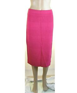 Gonna Midi Donna Longuette KAOS Made in Italy SA757 Rosso Fragola Tg S