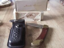 Schrade Uncle Henry Bear Paw LB-7 Lockback Knife Vintage in Box with Paperwork