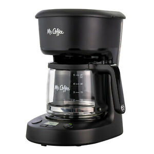 Mr. Coffee 5-Cup Programmable Coffee Maker, 25 oz. Mini Brew, Brew Now or Later,