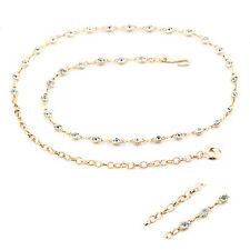 Gold Diamante/Diamond Ladies Waist Chain/Charm Belt - One Size Fits All - 643