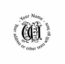 UNMOUNTED PERSONALIZED ROUND SELF ADDRESS  RUBBER STAMP R66